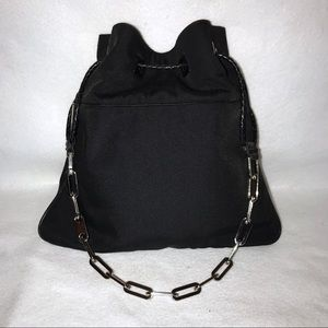 Authentic Gucci Chain Chinch Leather Trimmed Bag
